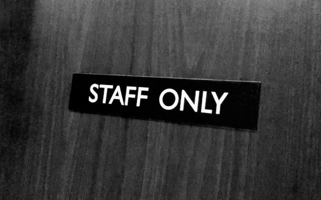 スタッフのみ入れる部屋
